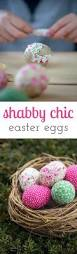 super simple shabby chic easter eggs