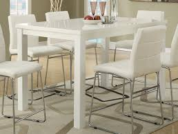 white counter height kitchen table and chairs high gloss white finish counter height dining table lowest price