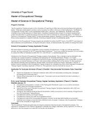 cover letter sample resume for occupational therapist sample