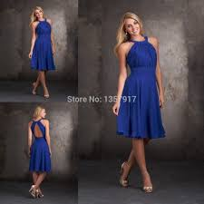 turmec royal blue halter bridesmaid dress