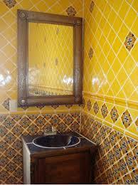 mexican bathroom ideas mexican tile in bathroom with tin mirror mexican home decor