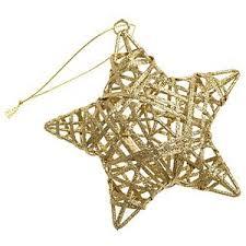 gold glitter raffia star red u0026 gold decorations hanging