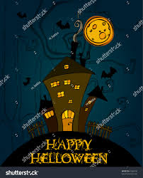 halloween background outlines vector cute halloween background stock vector 61680136 shutterstock