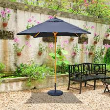 Galtech Patio Umbrellas by Galtech Wood 6 U0027 X 6 U0027 Square Cafe And Bistro Umbrella 161