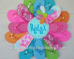 Flip Flop Wall Decor Super Cute Handmade Flip Flop Wreaths All By Theflipflopdaisy