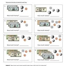 first grade counting money worksheet 15 u2013 one page worksheets