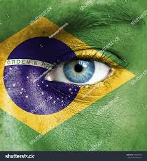 Argentina Flag Face Human Face Painted Flag Brazil Stock Photo 120202783 Shutterstock