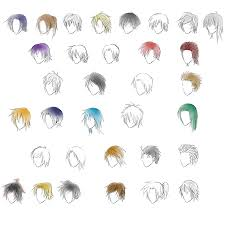 anime guy hair styles by gleaming4shadows on deviantart