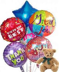 balloons and teddy delivery thank you balloons teddy same day gift delivery balloon