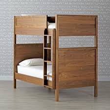 Crib Mattress Bunk Bed by Taylor Walnut Twin Over Twin Bunk Bed The Land Of Nod