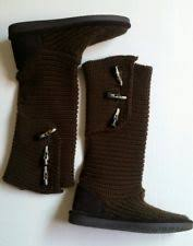 womens paw boots size 9 bearpaw knit boots ebay