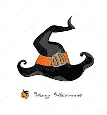 icon halloween happy halloween witch hat vector illustration retro cartoon