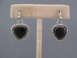 onyx earrings sterling silver onyx earrings yellowhorse american earrings