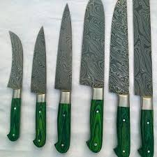 kitchen knive sets damascus steel kitchen knife set spero knives