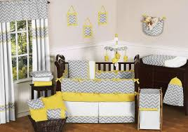 Gray And Yellow Nursery Decor Modern Baby Nursery Ideas White Dresser White Bedding Wooden