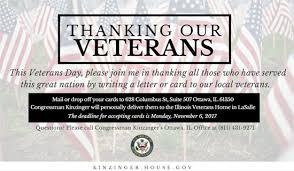 rep kinzinger announces veterans day card drive u s house of