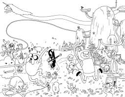 adventure time coloring pages cartoon coloring pages pinterest