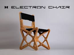 Flat Folding Chair Flat Pack Electron Chair Is Cnc Milled From Beech Plywood For Zero