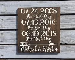 wedding date sign etsy