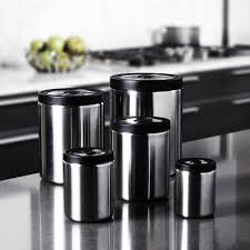Metal Canisters Kitchen 20 Black Kitchen Canister Fifth Avenue Crystal White