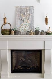 spring mantel and a new bunny easter sign so much better with age