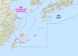 East China Sea Map Japans Insel Vor Taiwan Asienspiegel