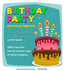 many stock birthday party invitation card vector creation happy birthday cake card design vector stock vector 119238508