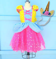 unicorn dress girls unicorn costume unicorn princess dress