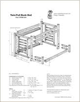 Free Bunk Bed Plans Twin Over Full by Diy Werk