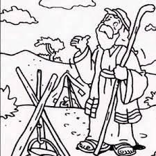 bible story sacrifice abraham son isaac coloring pages