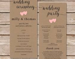 wedding program layouts fall wedding program etsy