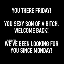 Sexy Friday Memes - friday you sexy bitch we missed you rebelcircus rebelcircus