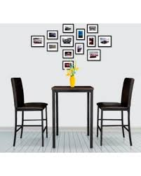Bistro Table Set Kitchen by Spring Savings On Ikayaa Modern 3pcs Pub Bar Table With 2 Chairs