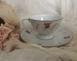 roses teacups pink teacup etsy