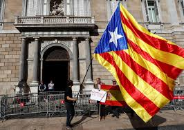 Barcelona Spain Flag Catalans Vow To Fight On As Spain Orders Leader U0027s Arrest Nbc News