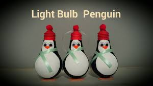 light bulb penguin ornament by craft happy summer