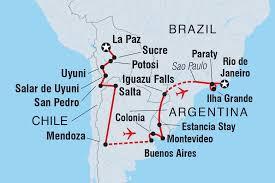 Map Of Uruguay Uruguay Tours U0026 Travel Intrepid Travel Gb