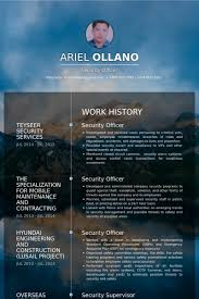 Security Guard Sample Resume by Security Officer Resume Samples Visualcv Resume Samples Database
