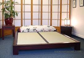 Platform Style Bed Frame Raku Japanese Tatami Bed Haiku Designs