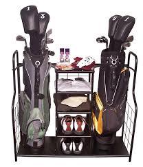 proactive sports dual golf bag u0026 equipment storage organizers