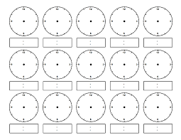 100 clock faces for teaching time dyslexia reading clock