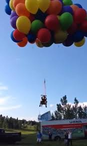 video canadian man arrested after balloon chair flight telegraph