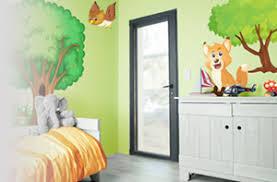 autocollant chambre bébé stickers animaux de la fôret pour chambre d enfant autocollant