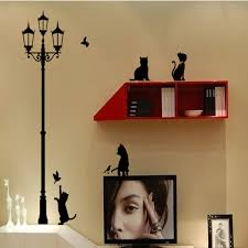 home decor free shipping shipping popular ancient l cats and birds wall sticker wall mural