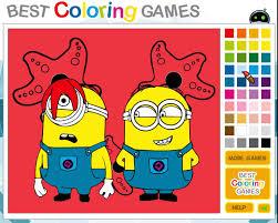 juego colorear minions estrella mar