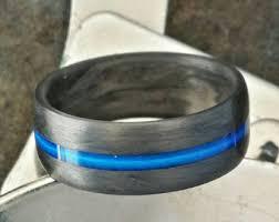 thin line wedding ring thin blue line ring etsy