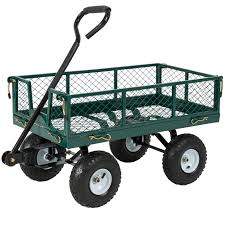 Cart by Best Choice Products Utility Cart Wagon Lawn Wheelbarrow Steel