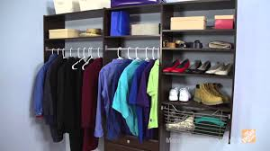 martha stewart living closet system deluxe the home depot youtube