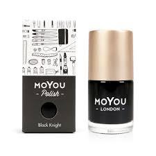 stamping nail polish black knight 15ml moyou london