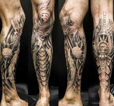 biomechanical tattoo design on leg tattoo designs tattoo pictures